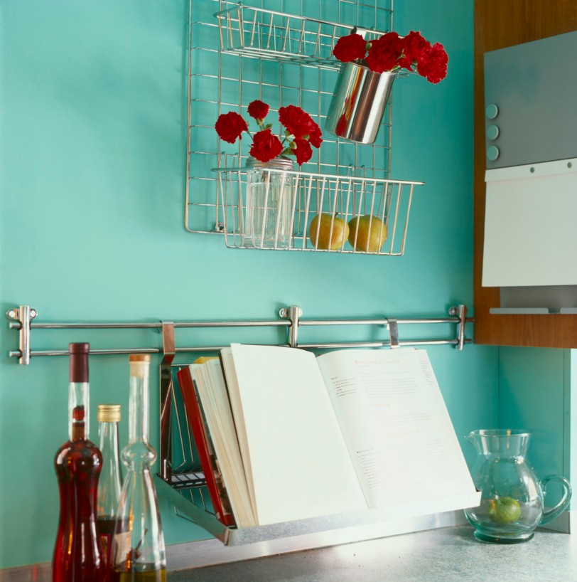 Red Carnations in the Kitchen