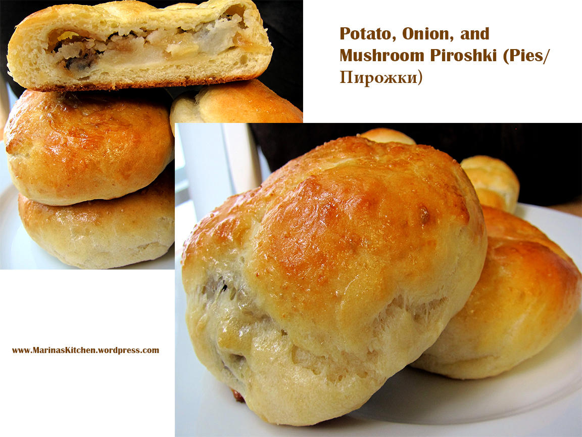 Potato, Onion, and Mushroom Piroshki (Pies/Пирожки) | Marina's ...