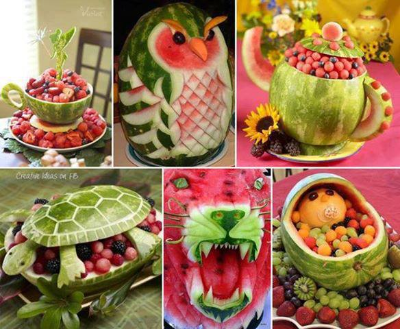 Watermelon art these are too cool marina s kitchen
