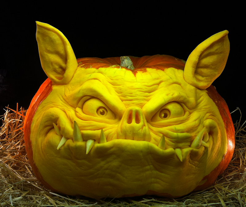 Amazing Pumpkin Art By Ray Villafane
